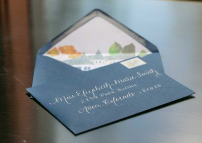Totally cool wedding invitation envelope
